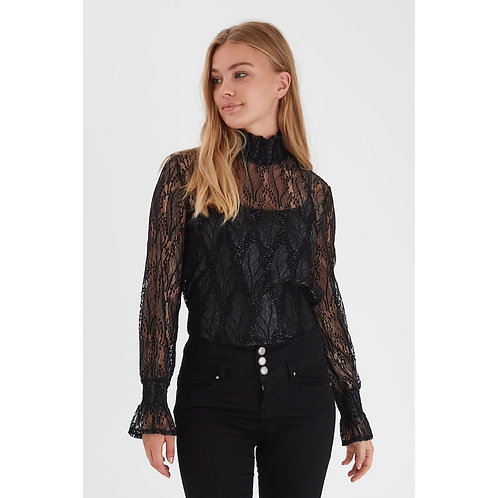 B.Young - High neck lace top