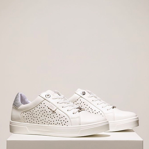 XTI - Star detail trainers - White