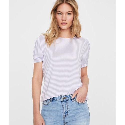 Vero moda - Stripe puff sleeve t.shirt