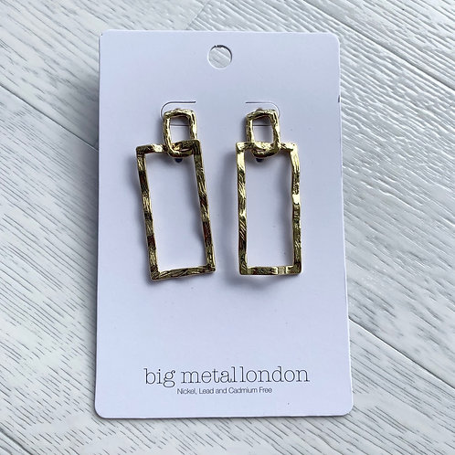 Big metal - Square earrings