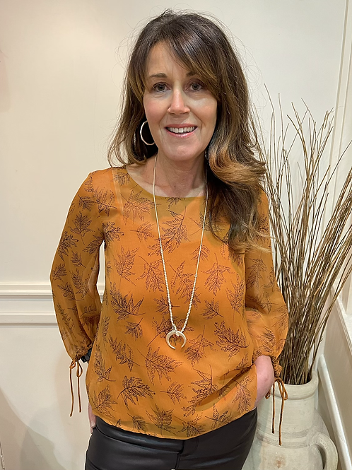 French Connection - Leaf print top