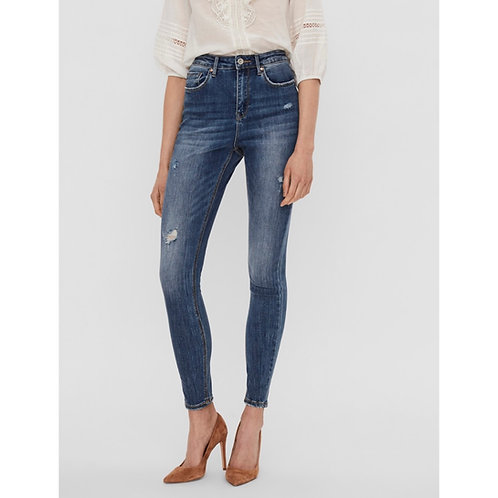 Vero Moda - Distressed skinny high waist jeans