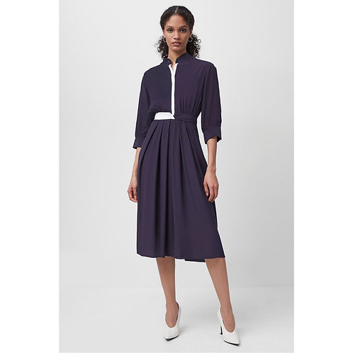 French Connection - Drape contrast shirt dress