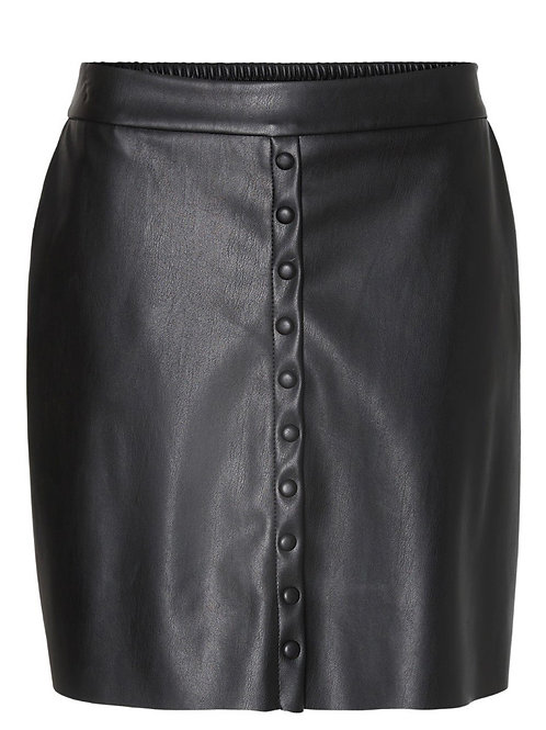 Vero Moda - Button up faux leather skirt