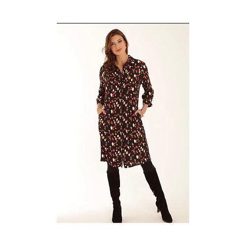 Pomodoro - jewel shirt dress