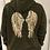 Thumbnail: Sequin wing back hoody - Khaki