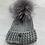 Thumbnail: Luxy London - BOSTON cable knit Pom Pom hat