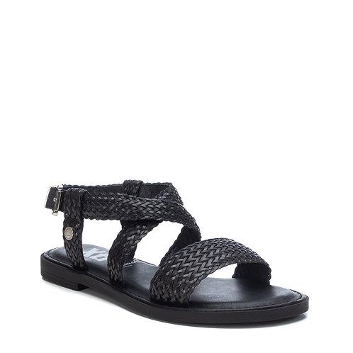 XTI - Woven effect flat strappy sandal