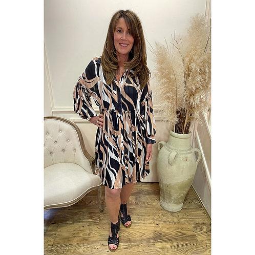Malissa J - Printed smock dress