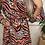 Thumbnail: Animal print button up shirt dress - Orange