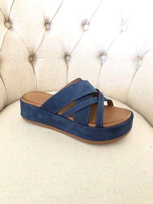 Carmela - Navy slip on sandal