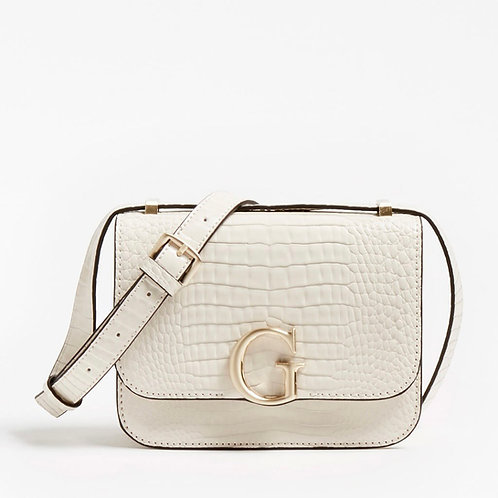 GUESS - CORILY CROC ORINT CROSSBODY BAG