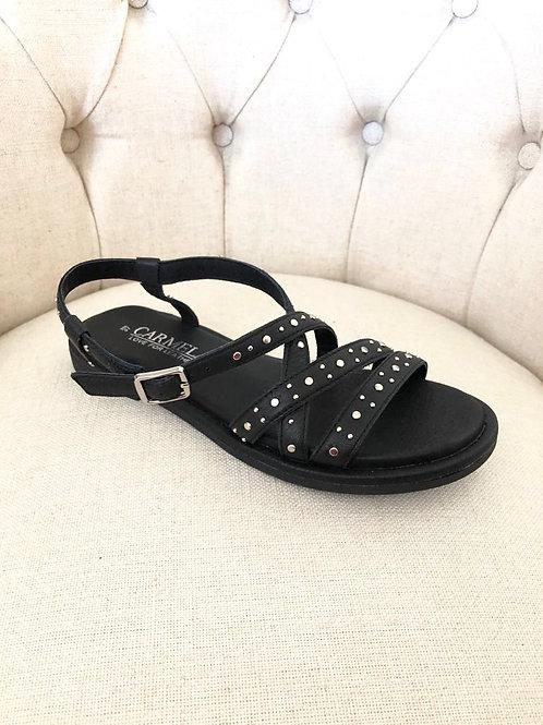 Carmela - Black stud detail sandal
