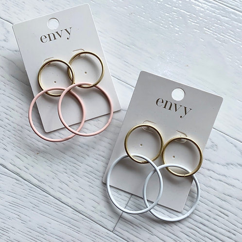 Envy - Double hoop earrings
