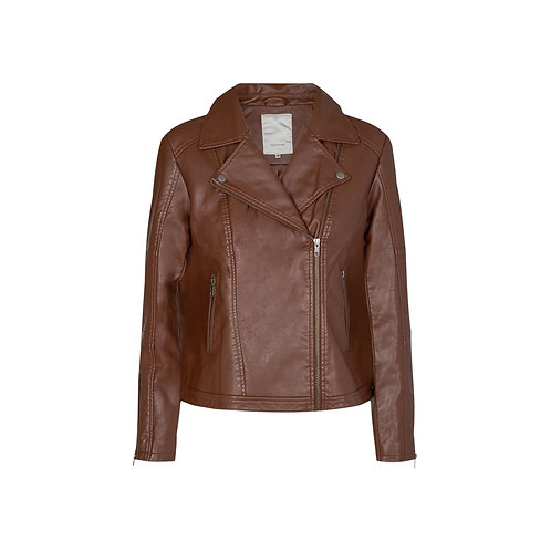 Soya  concept - Brown faux leather jacket