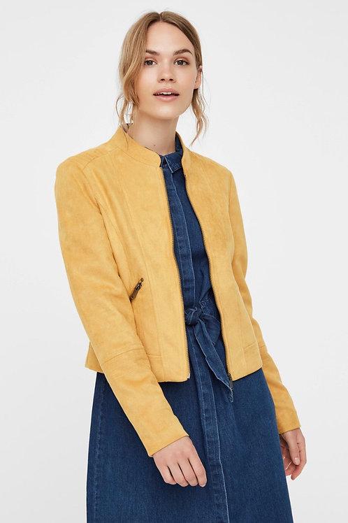 Vero Moda - Faux Suede jacket - Mustard