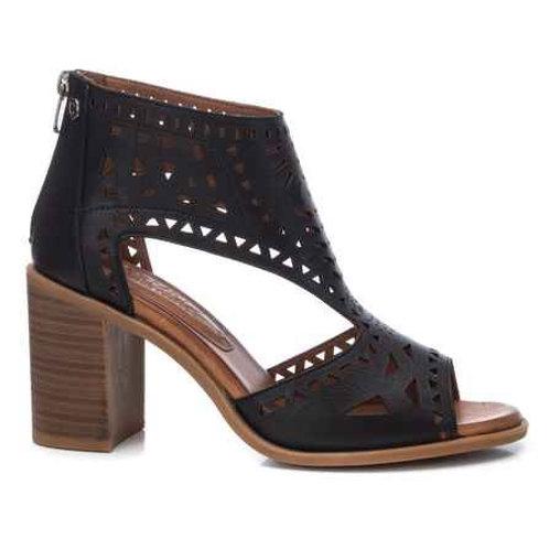 Carmela - 67760- Leather cut out peep toe shoe boot