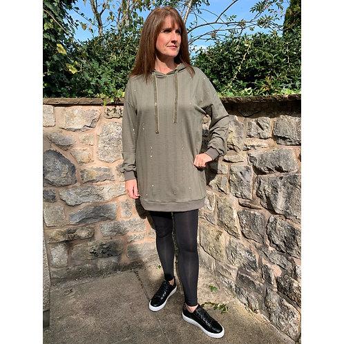 Malissa J - bling stripe hoody