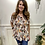 Thumbnail: Printed Pleat off the shoulder top