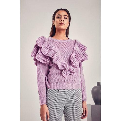ICHI - MAHRA - Frill detail jumper
