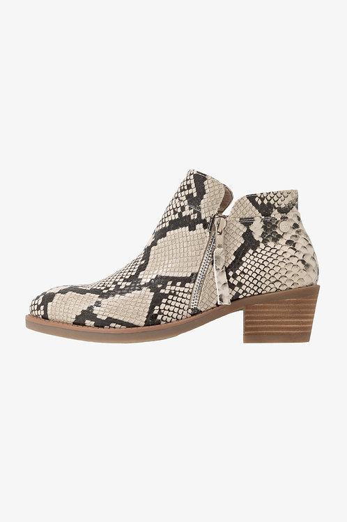XTI - Snake print ankle boots