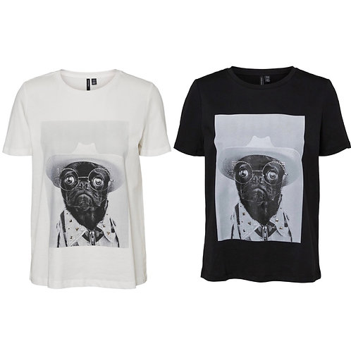 Vero Moda - Pug with sunglasses tee