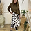 Thumbnail: ICHI - CONATA SK - Cow print midi skirt