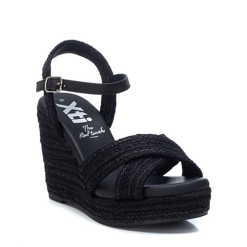 XTI - Wedge crossover strap sandal