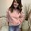 Thumbnail: Ruched sleeve slouch hoody