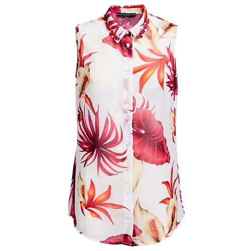 GUESS - GEORGETTE ALL OVER PRINT SHIRT