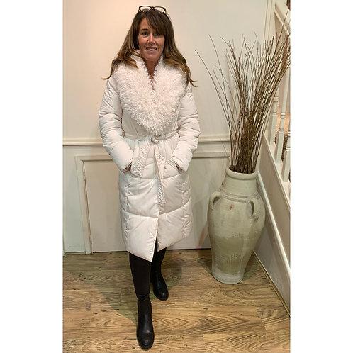 Vero Moda - shaggy fur collar quilted coat