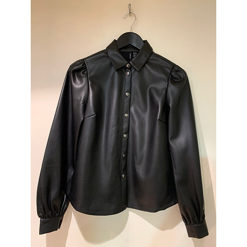 Vero Moda - Faux leather shirt - Black