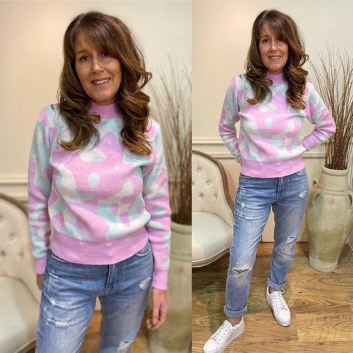 Mix pastel camo print jumper