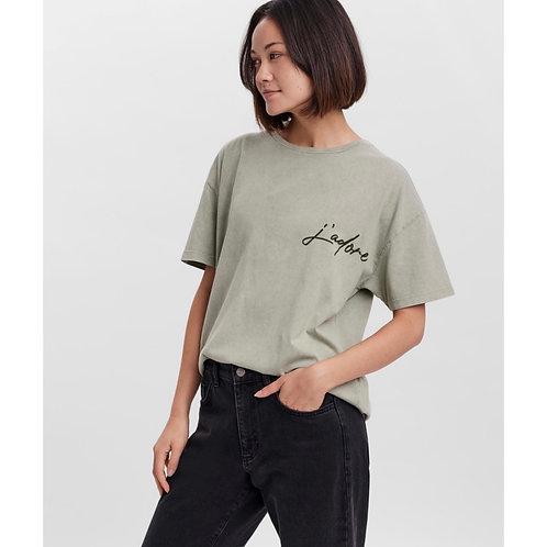 Vero Moda - 'J'adore' Slogan Tee