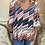Thumbnail: Traffic People 'Mollie top' Stripe v.neck top