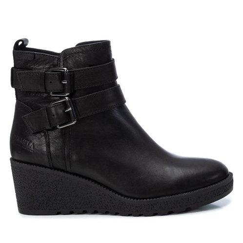 Carmela - Buckle wedge boot