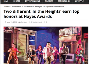 Two different 'In the Heights' earn top honors at Hayes Awards