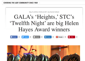 GALA's 'Heights,' STC's 'Twelfth Night' are big Helen Hayes Award winners