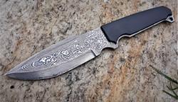 Damascus tactical knife