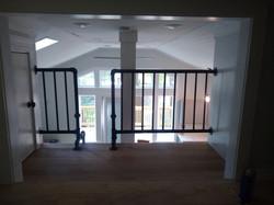 Black pipe railing