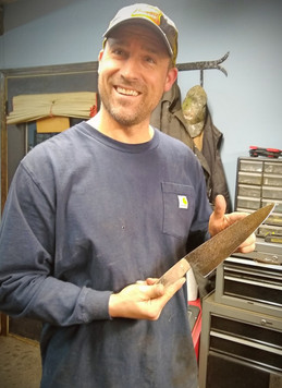 Joe with his Chef;s Knife