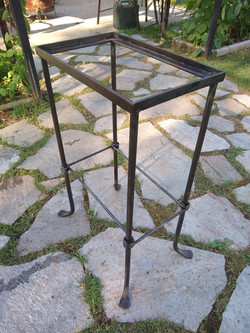 Hand forge box stand