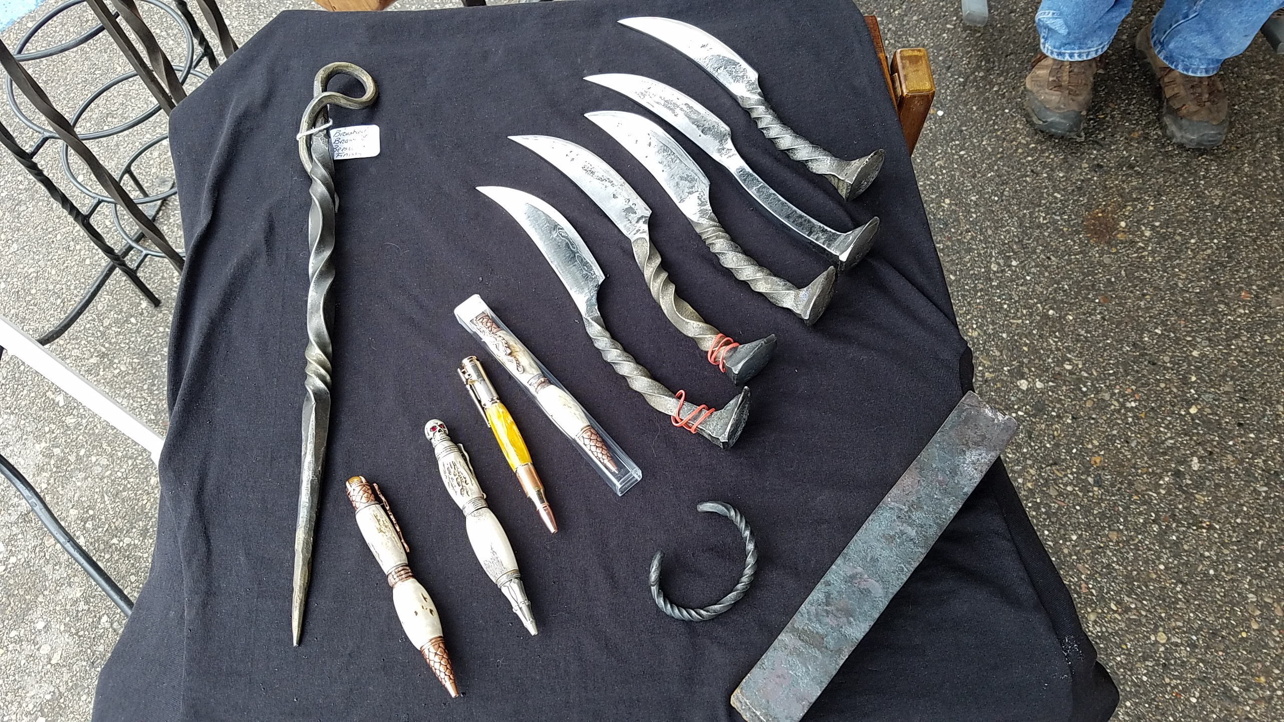 Railroad Spike Knives and pens
