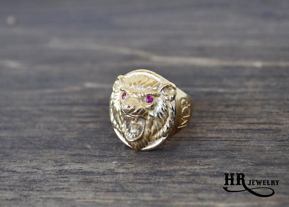 Bague sur mesure à Genève pour Homme Création Swiss Made dans nos Ateliers à Genève / HRjewelry