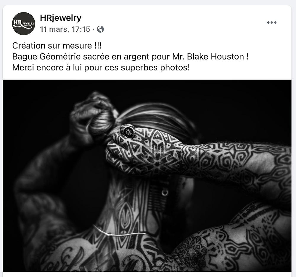 Bague et Bijoux sur mesure pour Homme à Genève / HRjewelry Geneva