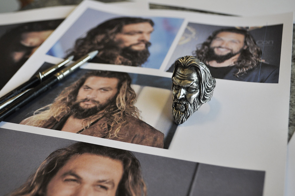 Jason Momoa Portrait / Création de bague pour Homme