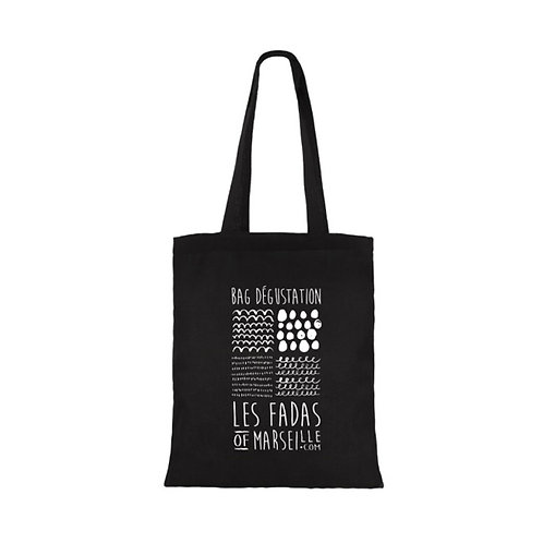 Tote Bag noir - Les Fadas of Marseille