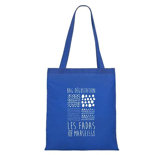 Tote Bag bleu - Les Fadas of Marseille
