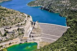 Le barrage de Gréoux