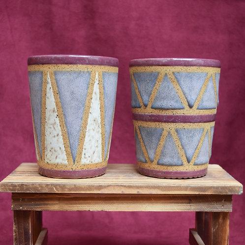 Purple Drum Cup Set